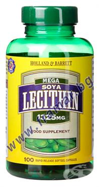 Изображение към продукта МЕГА СОЕВ ЛЕЦИТИН капсули 1325 мг * 100 HOLLAND & BARRETT