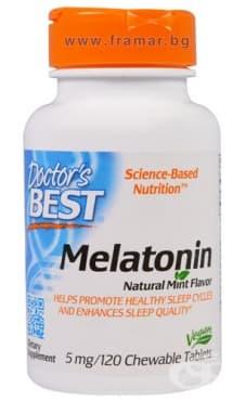 ДОКТОР'С БЕСТ МЕЛАТОНИН дъвчащи таблетки 5 мг. * 120 - изображение