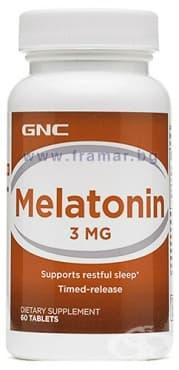 Изображение към продукта МЕЛАТОНИН  с удължено освобождаване табл. 3 мг. * 60 GNC