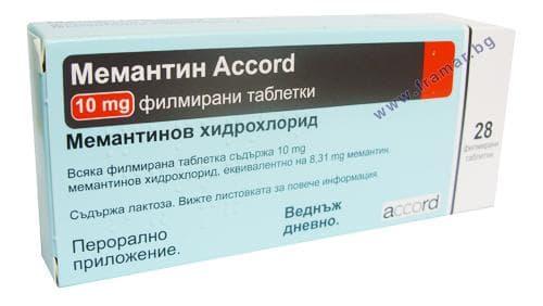 Изображение към продукта МЕМАНТИН АКОРД филмирани таблетки 10 мг. * 28 ACCORD HEALTHCARE LTD