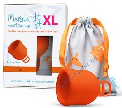 Изображение към продукта МЕНСТРУАЛНА ЧАШКА МЕРУЛА размер XL ЛИСИЦА