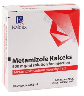 Изображение към продукта МЕТАМИЗОЛ КАЛЦЕКС инжекционен разтвор 500 мг / мл 2 мл * 10