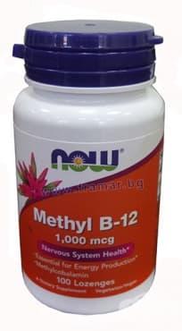 Изображение към продукта НАУ ФУДС МЕТИЛ Б 12 драже 1000 мкг. * 100