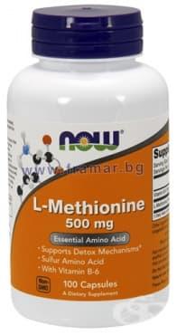 Изображение към продукта НАУ ФУДС МЕТИОНИН капс. 500 мг. * 100