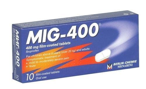 МИГ 400  табл. 400 мг. * 10 - изображение