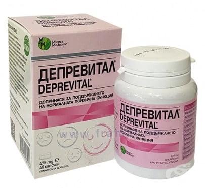 Изображение към продукта ДЕПРЕВИТАЛ капсули * 40 МИРТА МЕДИКУС