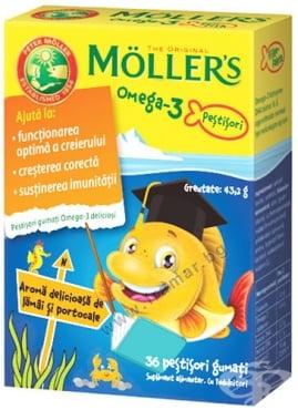 Изображение към продукта МЬОЛЕРС ОМЕГА 3 желирани таблетки * 36 ПОРТОКАЛ
