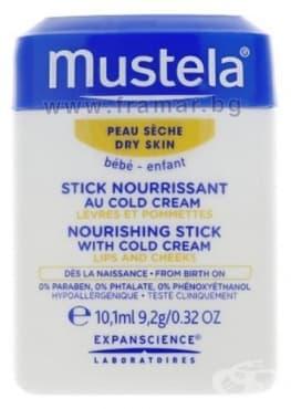 МУСТЕЛА - Cold cream - хидра стик с подхранващ колд крем 9.2 гр. - изображение