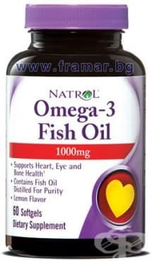 НАТРОЛ ОМЕГА-3 РИБЕНО МАСЛО капсули 1000 мг. * 60 - изображение