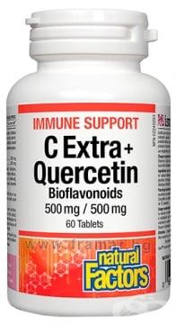 Изображение към продукта ИМУН СЪПОРТ С ЕКСТРА + КВЕРЦЕТИН 500 мг / 500 мг таблетки * 60 NATURAL FACTORS