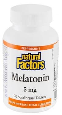 Изображение към продукта МЕЛАТОНИН таблетки 5 мг * 90 НАТУРАЛ ФАКТОРС