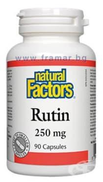 РУТИН капсули 250 мг. * 90 НАТУРАЛ ФАКТОРС - изображение