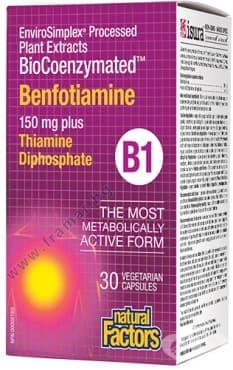 БЕНФОТИАМИН Б1 150 мг. + ВИТАМИН Б1 10 мг. капсули * 30 НАТУРАЛ ФАКТОРС - изображение
