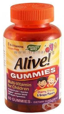 Изображение към продукта АЛАЙВ МУЛТИВИТАМИНИ ЗА ДЕЦА желирани таблетки * 60 NATURE'S WAY