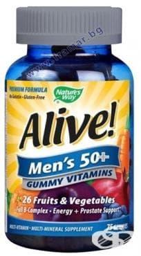 Изображение към продукта АЛАЙВ ВИТАМИНИ ЗА МЪЖЕ 50+ желирани таблетки * 75 NATURE'S WAY