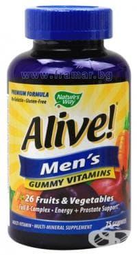 Изображение към продукта АЛАЙВ ВИТАМИНИ ЗА МЪЖЕ  желирани таблетки * 75 NATURE'S WAY