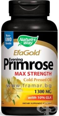 Изображение към продукта МАСЛО ОТ ВЕЧЕРНА ИГЛИКА капсули 1300 мг * 60 NATURE'S WAY