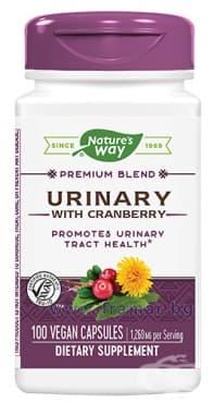 Изображение към продукта УРИНАРИ с червена боровинка капсули 420 мг * 100 NATURE'S WAY