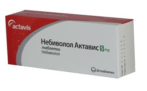 НЕБИВОЛОЛ  табл. 5 мг. * 30  АКТАВИС - изображение