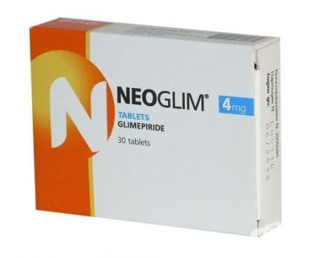 Изображение към продукта НЕОГЛИМ  табл.  4 мг. * 30