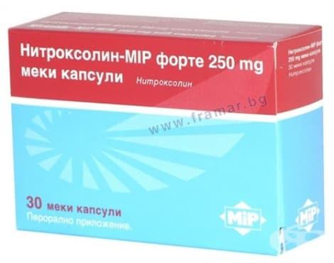 Изображение към продукта НИТРОКСОЛИН-МИП  капс. 250 мг. * 30 MIP PHARMA
