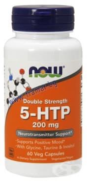 Изображение към продукта НАУ ФУДС 5 - ХИДРОКСИТРИПТОФАН  капсули 200 мг. * 60
