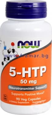 Изображение към продукта НАУ ФУДС 5 - ХИДРОКСИТРИПТОФАН капс. 50 мг. * 90