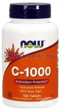 Изображение към продукта НАУ ФУДС ВИТАМИН Ц - 1000 мг. С ШИПКИ С УДЪЛЖЕНО ОСВОБОЖДАВАНЕ табл. * 100