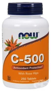 Изображение към продукта НАУ ФУДС ВИТАМИН Ц - 500 мг. С ШИПКИ таблетки * 250
