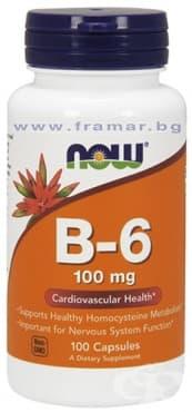 НАУ ФУДС ВИТАМИН Б 6 ПИРИДОКСИН капсули 100 мг * 100 - изображение