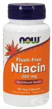 Изображение към продукта НАУ ФУДС НИАЦИН ФЛАШ ФРИЙ капс. 250 мг. * 90