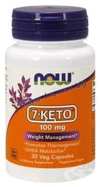Изображение към продукта НАУ ФУДС 7 - КЕТО капсули 100 мг * 30