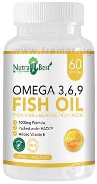 Изображение към продукта НУТРА БЕСТ ОМЕГА 3 - 6 - 9 капсули 1000 мг * 60