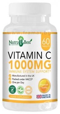 Изображение към продукта НУТРА БЕСТ ВИТАМИН Ц таблетки 1000 мг * 60