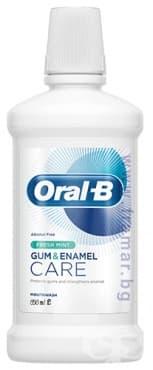 Изображение към продукта ВОДА ЗА УСТА ОРАЛ - Б GUM & ENAMEL CARE ФРЕШ МИНТ 500 мл