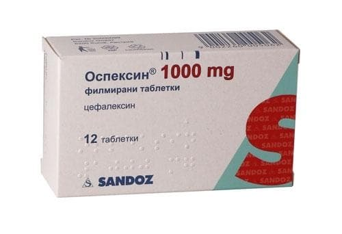 ОСПЕКСИН табл. 1000 мг. * 12 - изображение