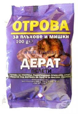 Изображение към продукта ОТРОВА ЗА МИШКИ ДЕРАТ ЧЕРВЕНА 100 гр.