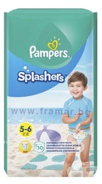 Изображение към продукта ПАМПЕРС - ГАЩИ СПЛАШЪРС 14+ кг. * 10