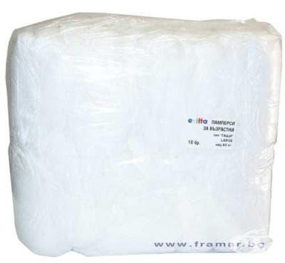 Изображение към продукта ПРЕДПАЗНО БЕЛЬО ЗА ВЪЗРАСТНИ ЕВИТА над 80 кг. * 10