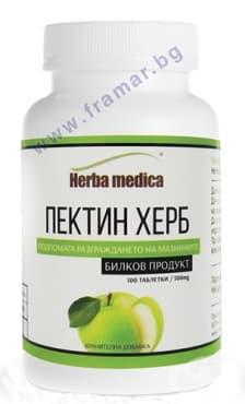 Изображение към продукта ПЕКТИН ХЕРБ таблетки 500 мг * 100 ХЕРБА МЕДИКА