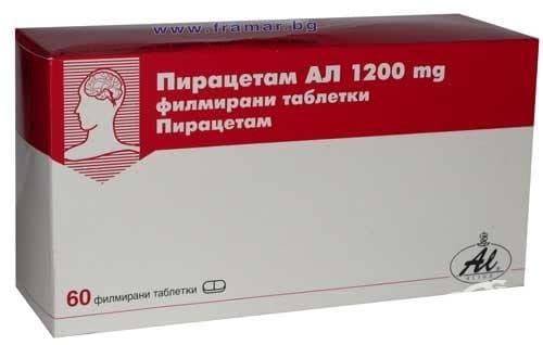 ПИРАЦЕТАМ AL табл. 1200 мг. * 60 - изображение