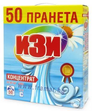 ИЗИ ПРАХ ЗА ПРАНЕ БЯЛО 50 ПРАНЕТА 2 кг. - изображение