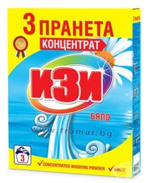 Изображение към продукта ИЗИ ПРАХ ЗА ПРАНЕ БЯЛО 3 ПРАНЕТА 120 гр.