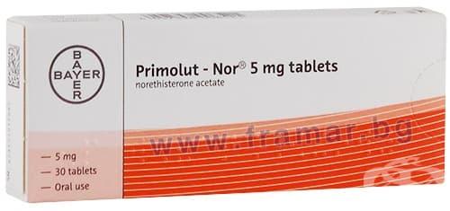 Изображение към продукта ПРИМОЛУТ - НОР таблетки 5 мг * 30 BAYER