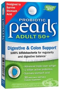 Изображение към продукта ПЕРЛИ ПРОБИОТИК АДЪЛТ 50+ 1 млрд. активни пробиотици капсули * 30 NATURE'S WAY