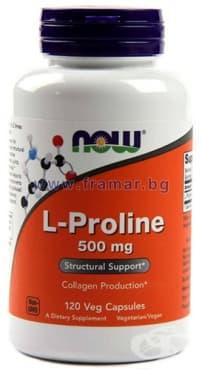 Изображение към продукта НАУ ФУДС ПРОЛИН капс. 500 мг. * 120