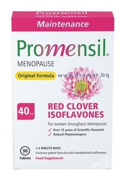 ПРОМЕНСИЛ МЕИНТЕНЕНС таблетки 40 мг. * 30 - изображение