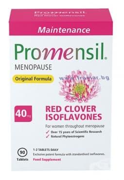 ПРОМЕНСИЛ МЕИНТЕНЕНС таблетки 40 мг. * 90 - изображение