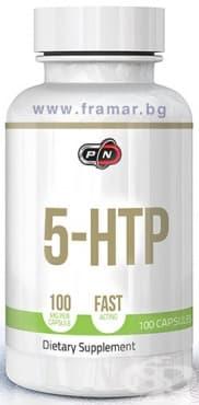 Изображение към продукта ПЮР НУТРИШЪН ПЕТ ХИДРОКСИ ТРИПТОФАН 5-HTP капсули 100 мг. * 100