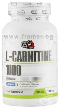 Изображение към продукта ПЮР НУТРИШЪН L - КАРНИТИН капс. 1000 мг. * 30